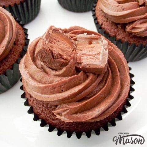 Mars Bar Cupcakes on a plate