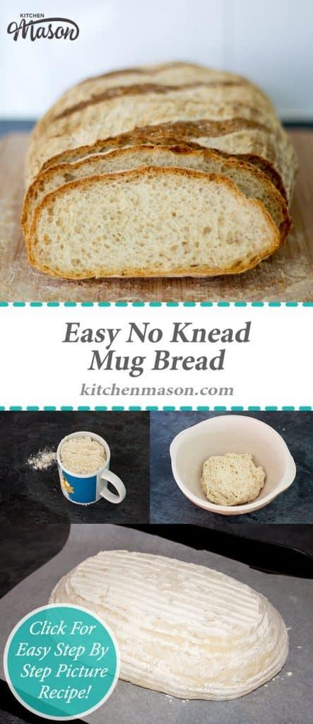 Easy No Knead Mug Bread | Simple | Best | White Loaf