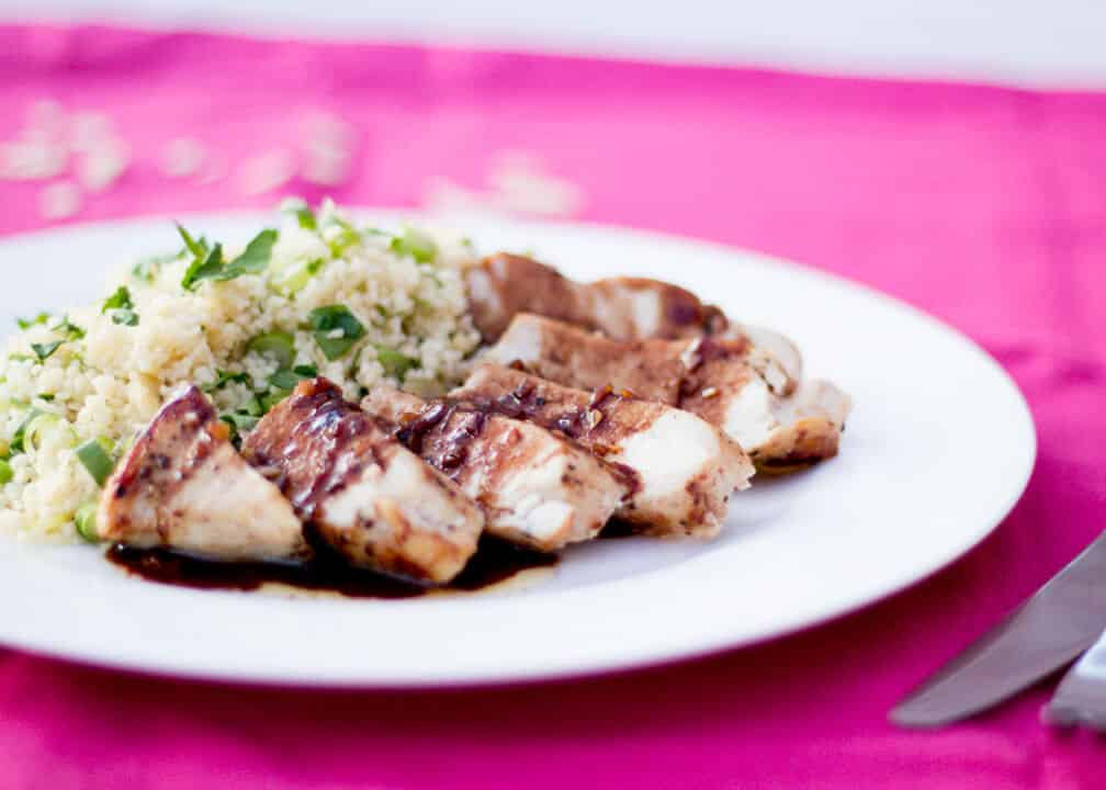 Speedy Balsamic Garlic Chicken | Couscous | Easy | Summer