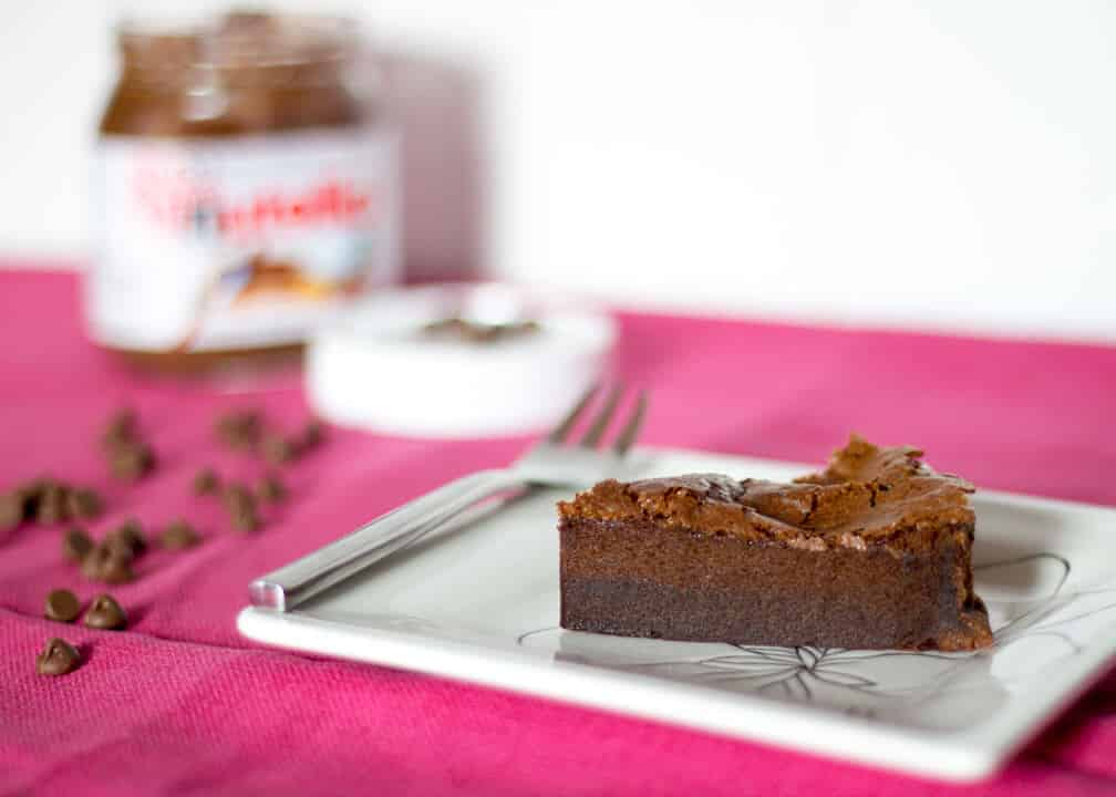 Nutella Cake | 2 Ingredient | Flourless | Gluten Free | Chocolate