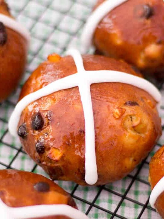 Hot Cross Buns | Chocolate Chip | Easter | Bread | Indulgent