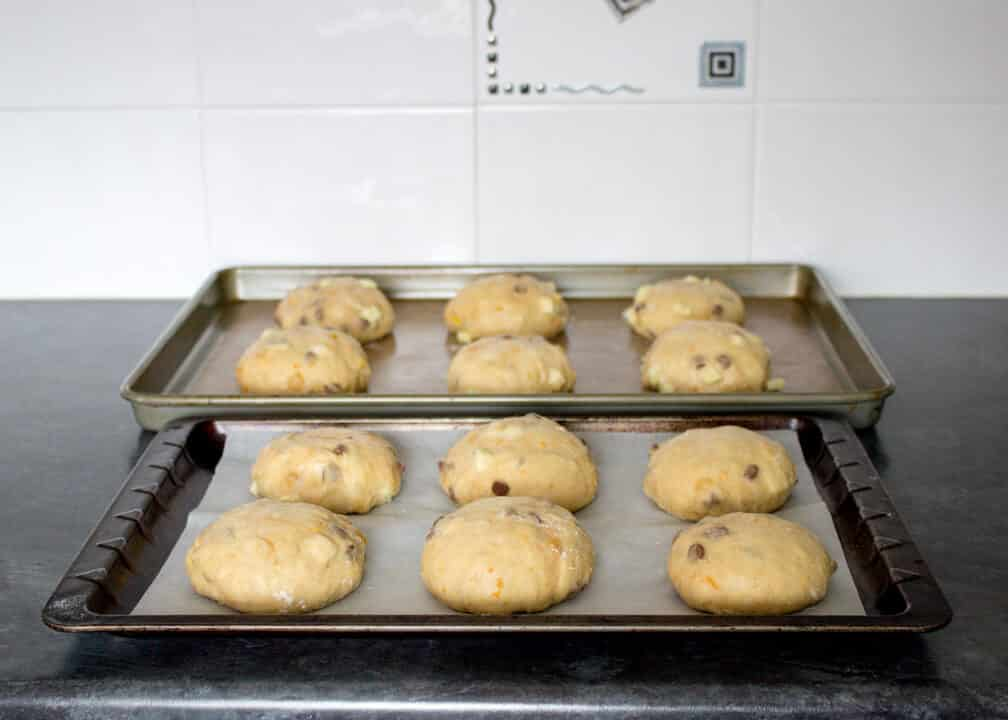 Indulgent Chocolate Chip Hot Cross Buns   Easter   Bread