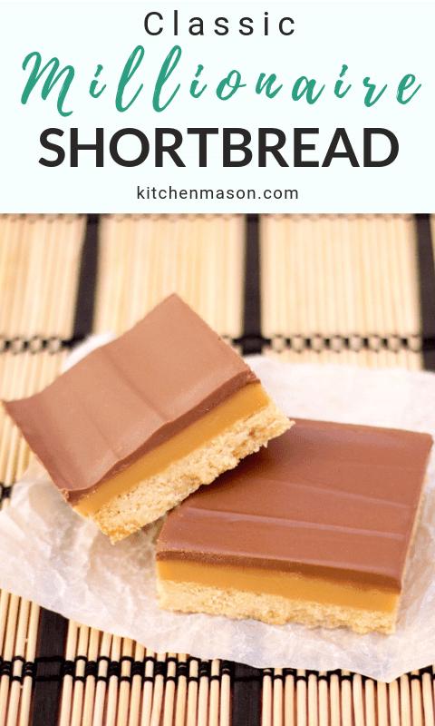 Millionaire's Shortbread on Baking Paper