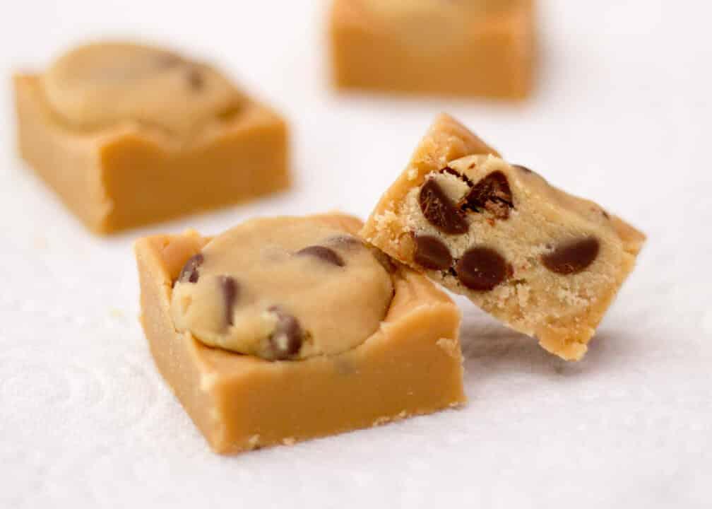 Incredible Cookie Dough Fudge   Vanilla   Chocolate Chip