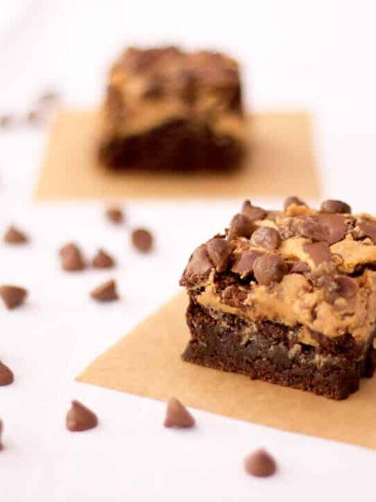 Gluten Free Chocolate Peanut Butter Brownies | Traybake | Bars