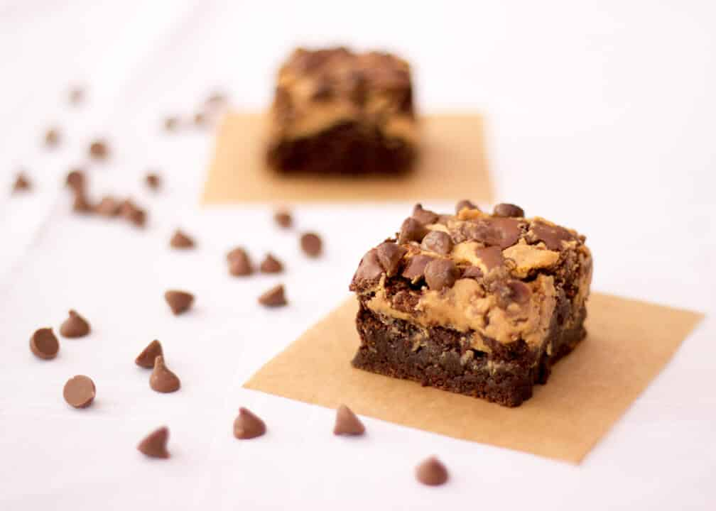 Gluten Free Chocolate Peanut Butter Brownies | Traybake | Bars