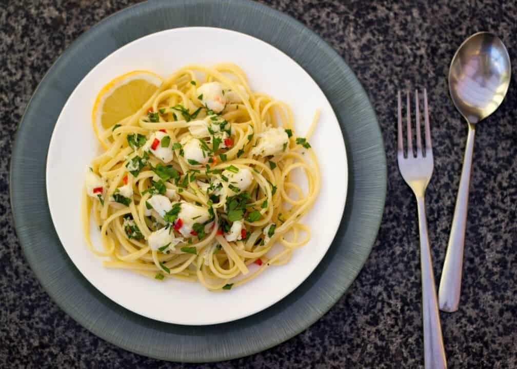 Quick & Healthy Crab Linguine | Pasta | Fish | Cheap