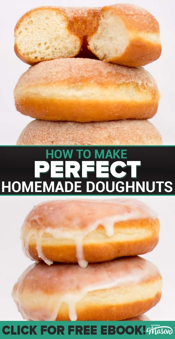 Click to learn how to make the most PERFECT homemade doughnuts ever! A classic dessert recipe, it's easier to make than you think. #homemadedoughnuts #doughnuts 'doughnutrecipe #donut #donutrecipe #donuts