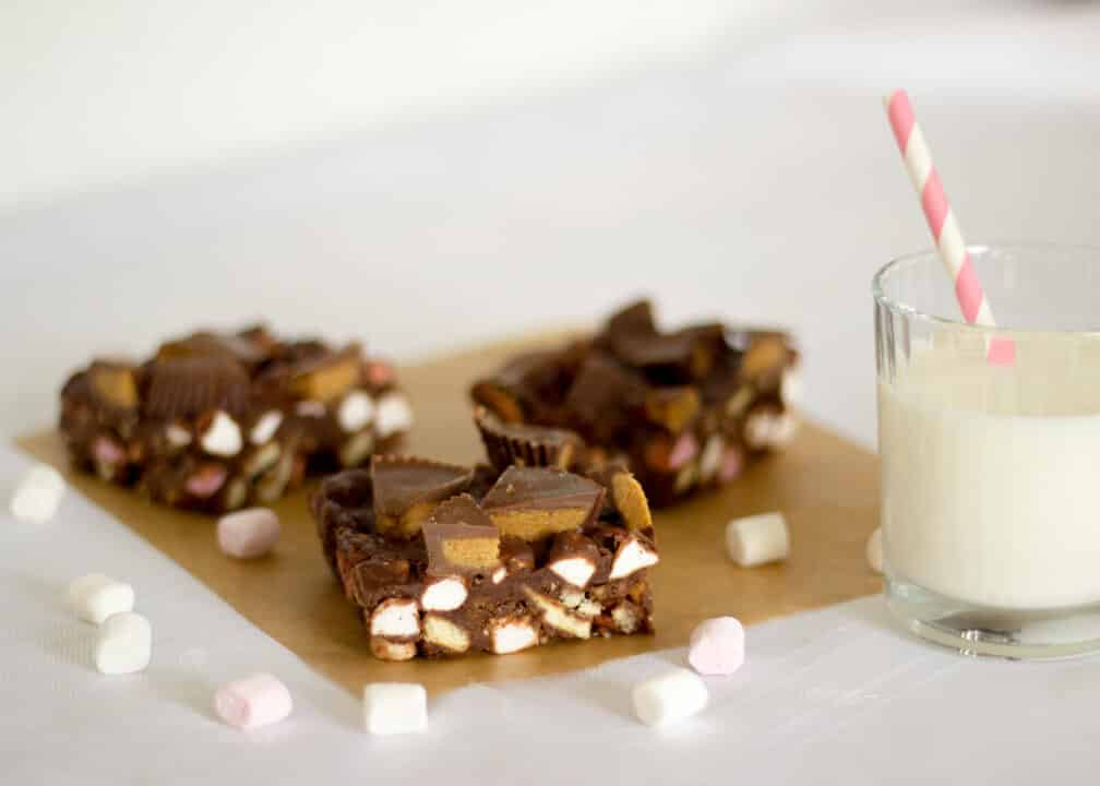 Reese's Peanut Butter Cup Rocky Road | No Bake | Chocolate