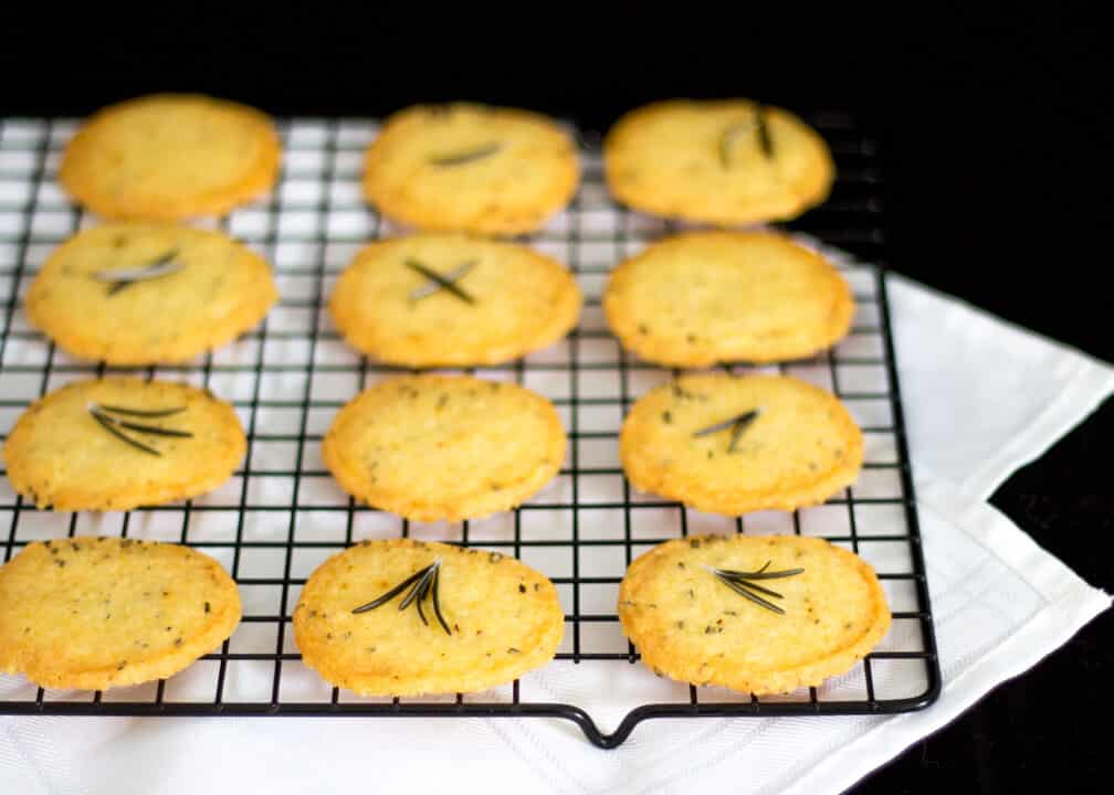 Simple & Spicy Rosemary Thins   Biscuits   Crackers   Savoury   Sables