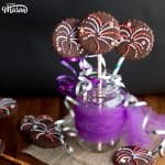 Spectacular Firework Cookies in a jar with curling ribbon