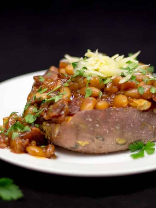Baked Sweet Potato   Homemade Baked Beans   Healthy   Comfort Food