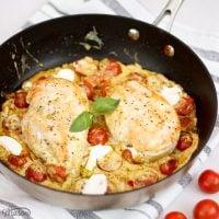 Easy One Pot Creamy Pesto Chicken
