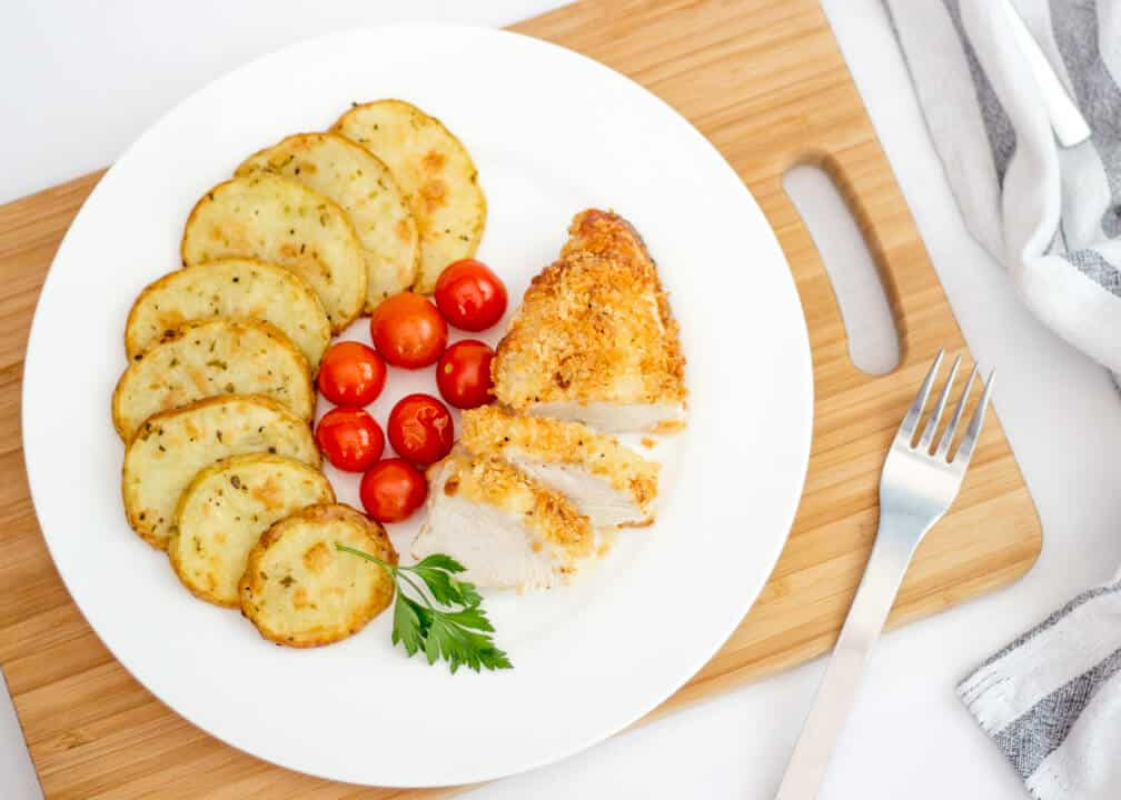 Parmesan Chicken | Baked | Simple | Breaded | Easy | Cheese