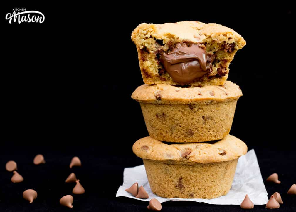 Nutella Lava Cookies | Chocolate Chip | Cookie Cup | Stuffed | Easy