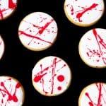 Easy Halloween Cookies with Blood Spatter | Easy Halloween Treats