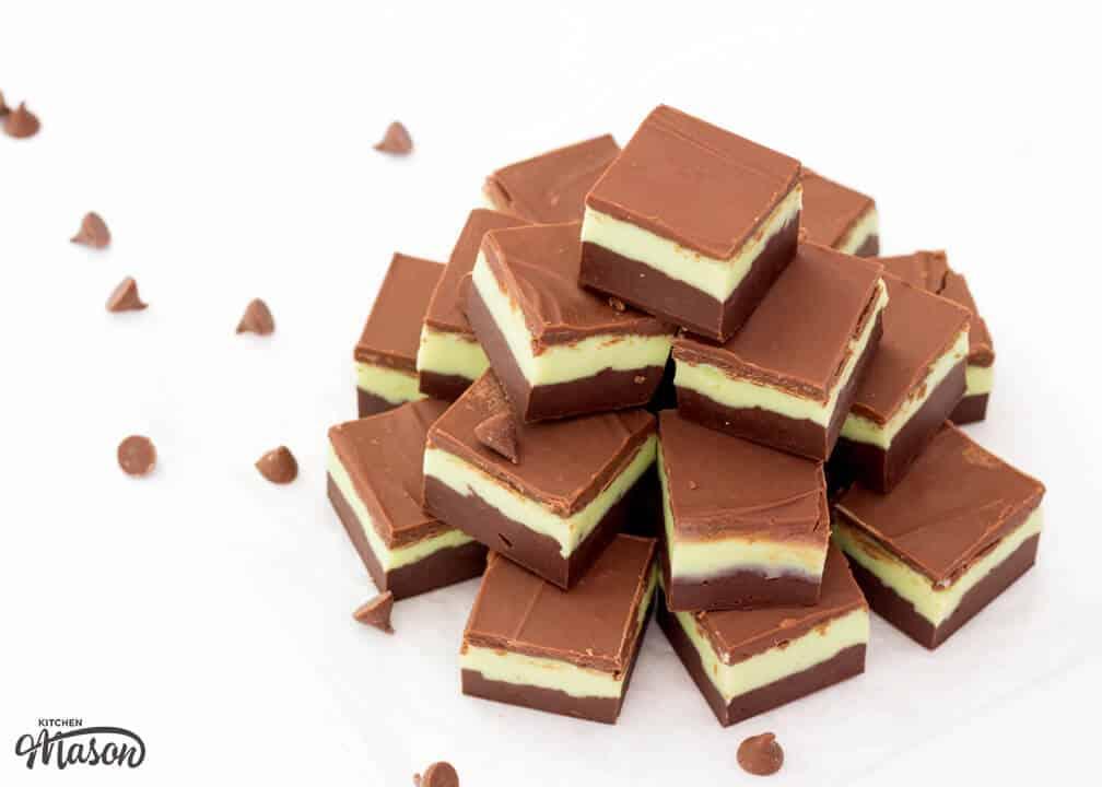 Easy Fudge Recipes | Mint Chocolate Recipes | Mint Chocolate Fudge