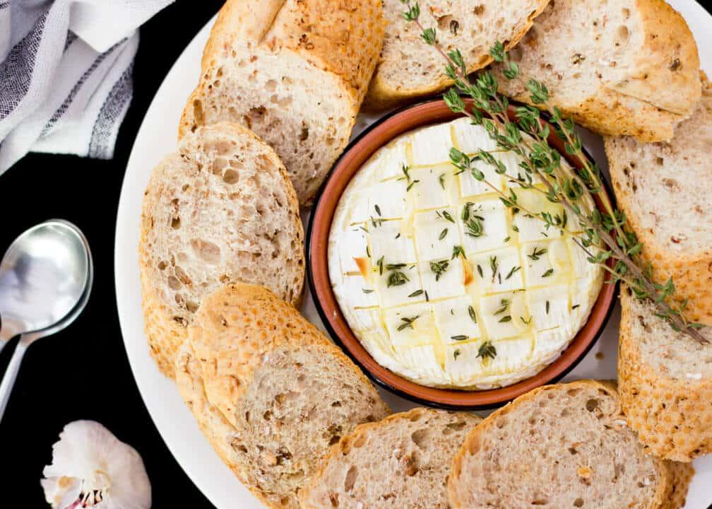 Garlic & Thyme Baked Camembert