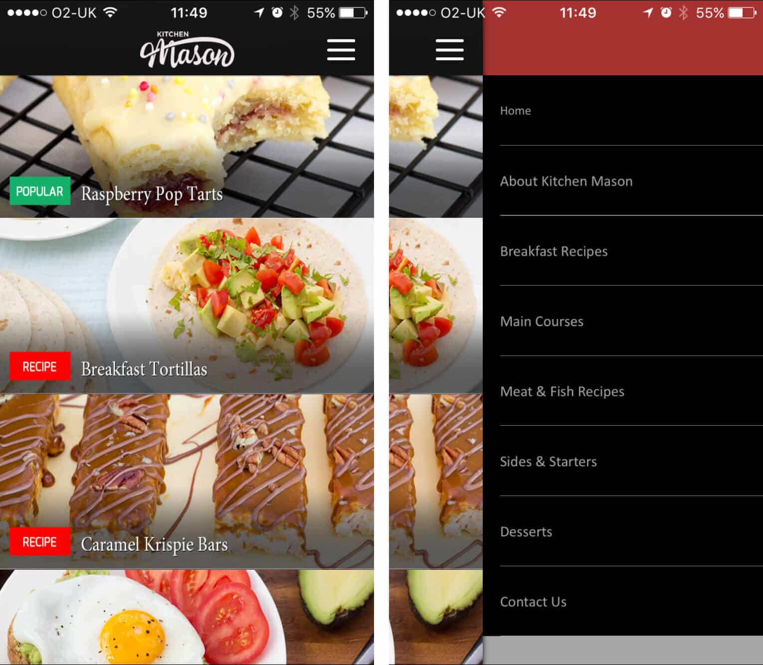 KitchenMason App Screenshot