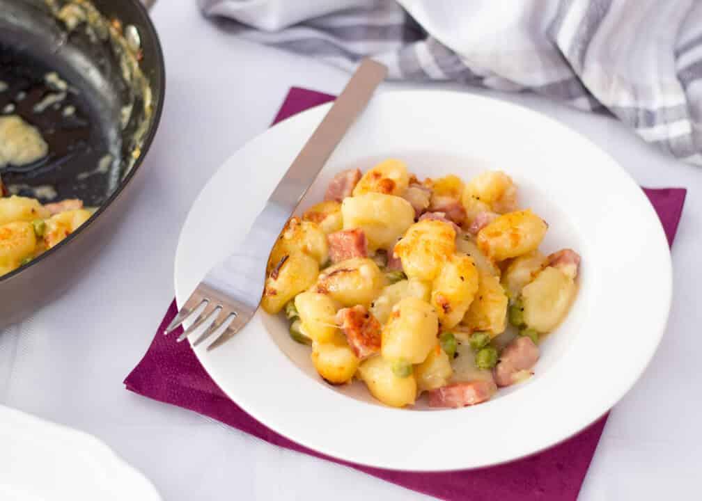 One Pot Ham & Cheese Gnocchi