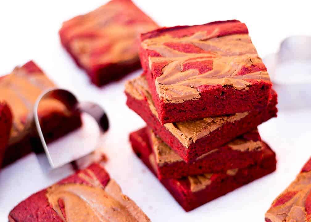 Red Velvet & Chocolate Swirl Brownie