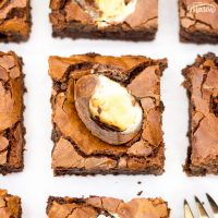 How to Make CRAZY Tasty Creme Egg Brownies!