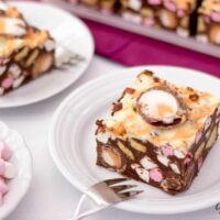 No Bake Creme Egg Rocky Road