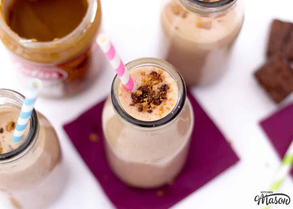 Biscoff Brownie Milkshake | Easy Milkshake Recipe | Easy Biscoff Recipes
