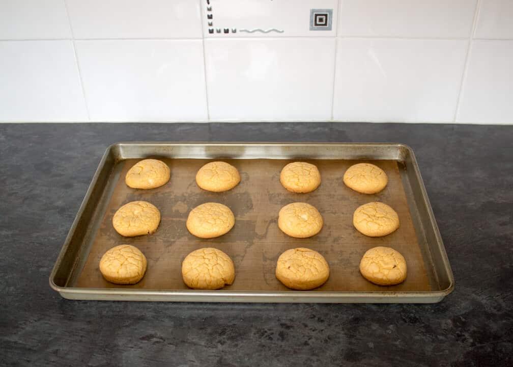 Custard & White Chocolate Cookies