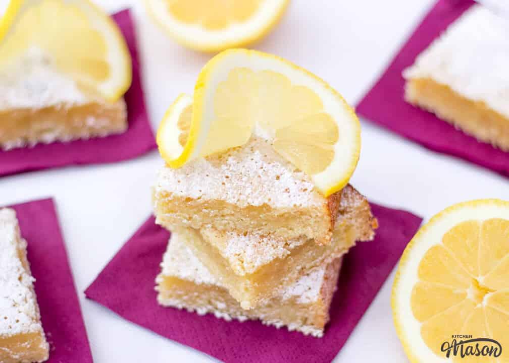 Easy Lemon Bars | Easy Lemon Dessert Recipes | Easy Traybake Recipes