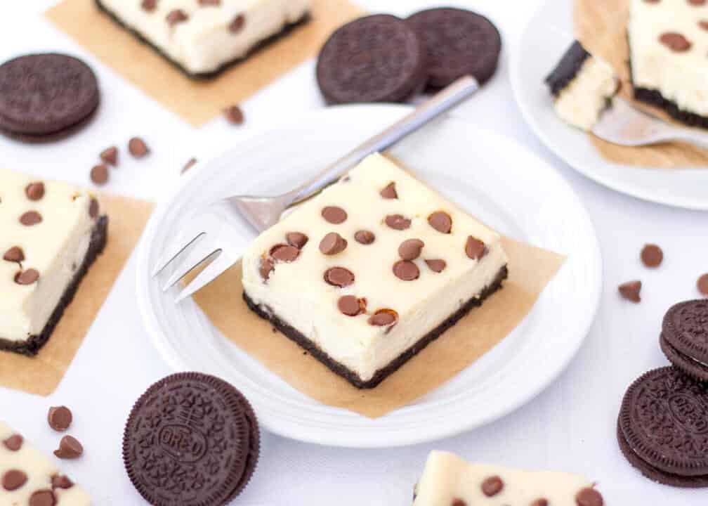 Choc Chip Oreo Cheesecake Bars