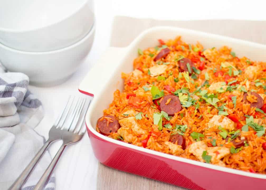 One Pot Chorizo Chicken Jambalaya