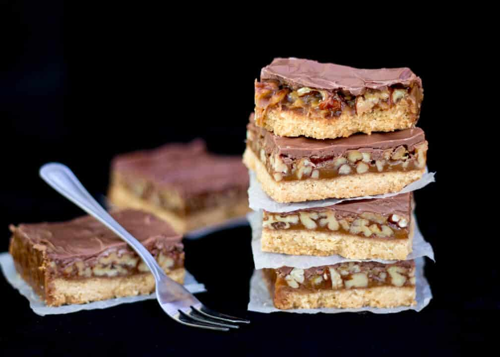 Caramel Nut Crunch Bars