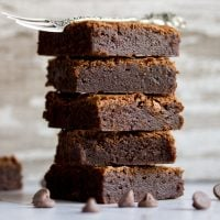 CRAZY Easy One Bowl Fudgy Brownie Recipe
