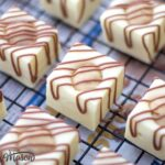 White Chocolate Cookie Dough Fudge on a Cooling Rack
