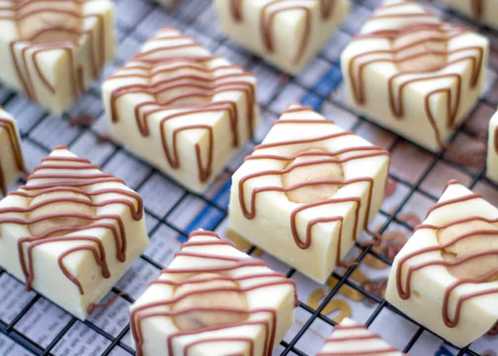 White Chocolate Cookie Dough Fudge