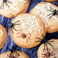 How to Make Chocolate Chip Halloween Spider Cookies
