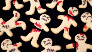 Super Easy Ginger-Dead Men Halloween Biscuits