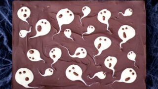 2 Ingredient Milk Chocolate Ghost Halloween Bark