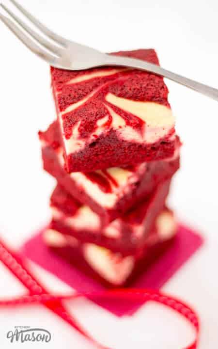 Red Velvet Cheesecake Swirl Brownies   Valentines Day   The Best
