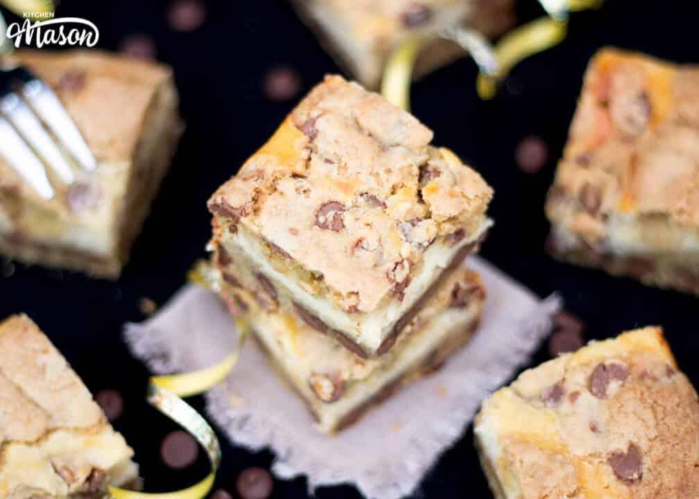 Choc Chip Cookie Cheesecake Bars   Chocolate Chip   Vanilla   Traybake