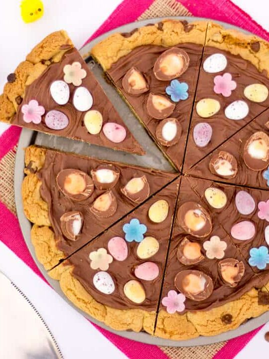 Easter Chocolate Cookie Pizza | Creme Egg | Mini Eggs | Choc Chip