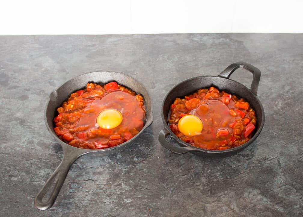 Spicy Baked Eggs | Shakshuka | Easy | Breakfast | One Pot | Tomato