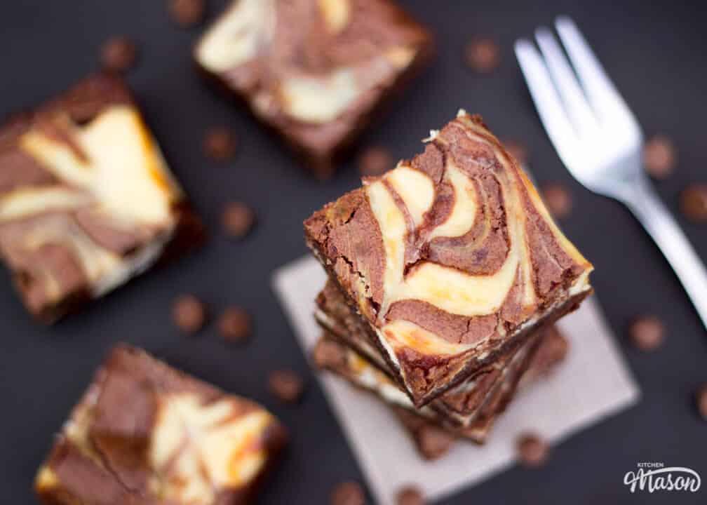 Easy Dessert Recipes   Brownie Recipes   Cheesecake Swirl Brownies