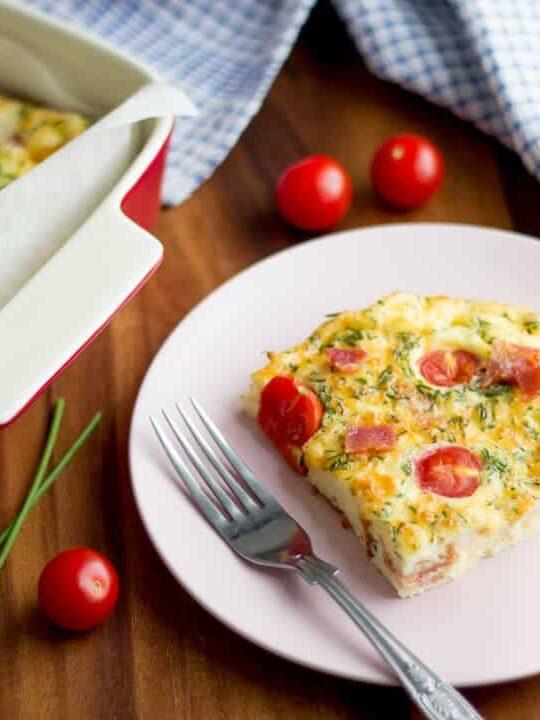 Easy Frittata Recipes   Bacon Cheese Frittata Recipe   Bacon Recipes