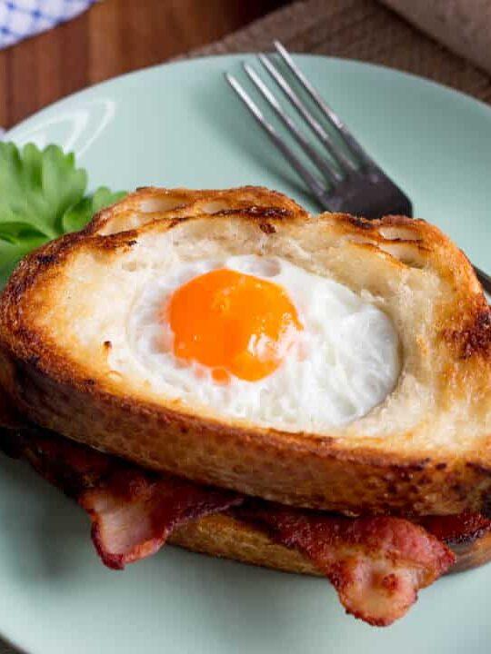Easy Breakfast Recipes   Egg In A Hole Recipe   Easy Bacon Recipes