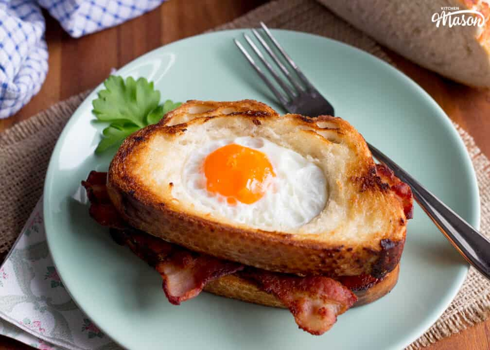 Easy Breakfast Recipes | Egg In A Hole Recipe | Easy Bacon Recipes