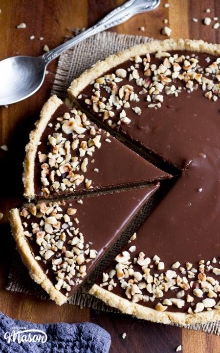 Easy No Bake Nutella Tart   Easy Dessert Recipes   No Bake Tart Recipes