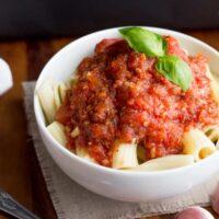 The Best Roast Garlic & Tomato Pasta Sauce