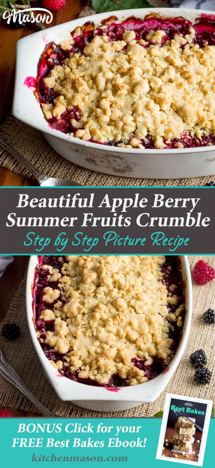 Summer Fruit Crumble Recipe | Easy Crumble Recipe | Easy Fruit Recipes